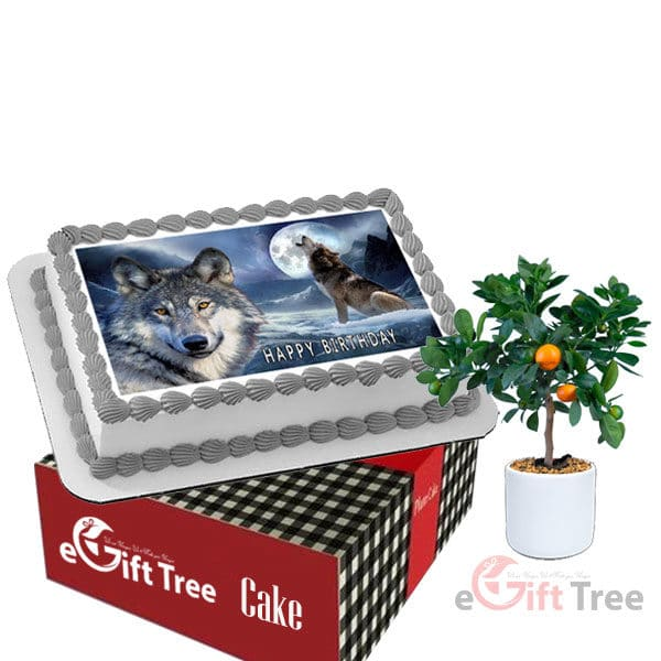 Rectangle Cake with Your Photo