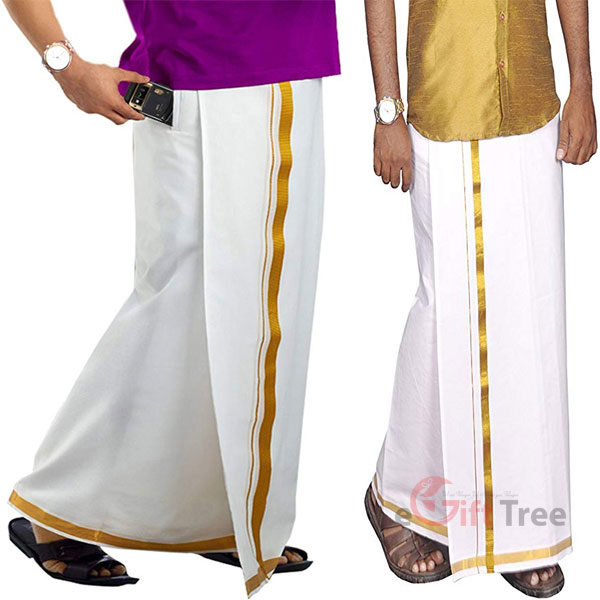 Cotton Men's Cotton Velcro Pocket Dhoti