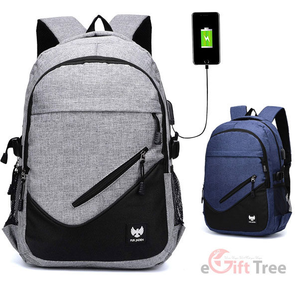 Casual Backpack with USB Charging Laptop Pocket