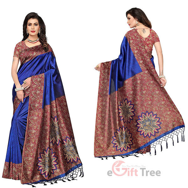 Silk Saree with Blouse Piece Blue
