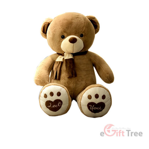 Teddy Bear in a scarf big brushy plush Doll