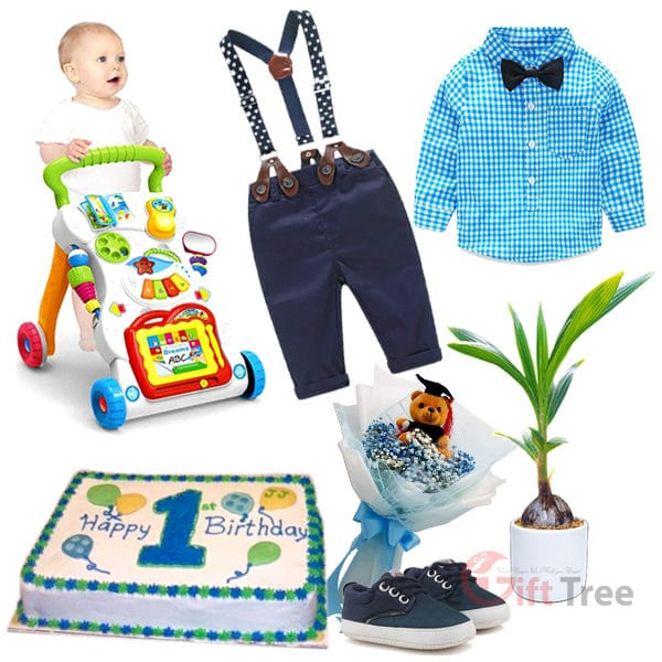Baby Boy 1st Birthday Gift Pack BBHB1st-1 for 4-24 Months