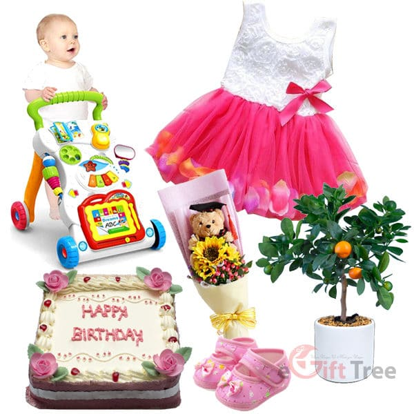 Baby Girl 1st Birthday Gift Pack BGHB1st-1