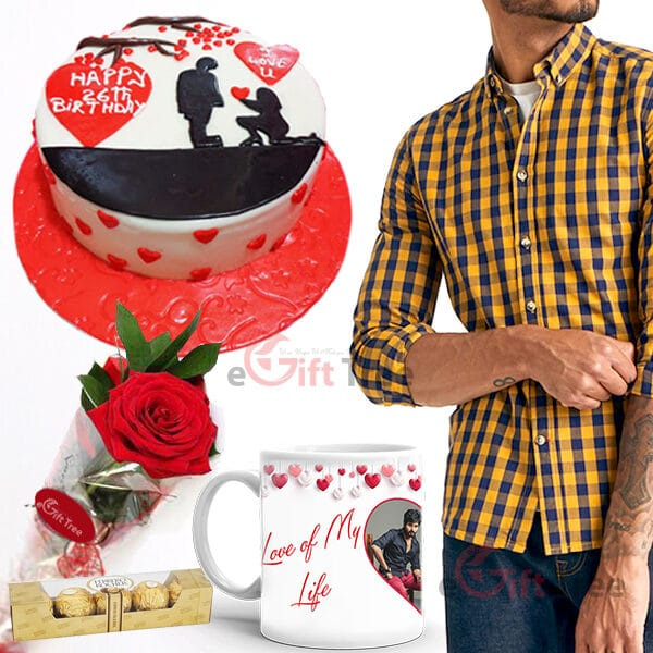 Love Birthday Cake with Shirt LHBL01