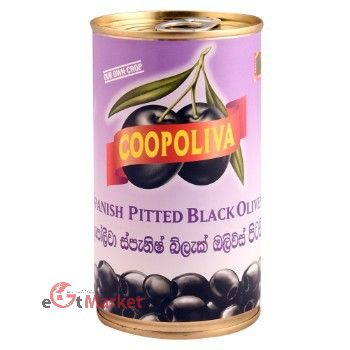 Coopoliva Spanish Black Olive Pitted 350g