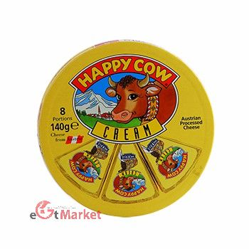 Happy Cow Cheese Portions Cream 140g