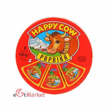Happy Cow Cheese Portions Paprika 140g