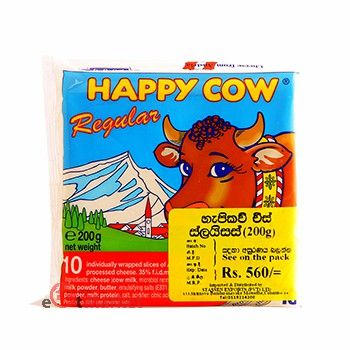 Happy Cow Cheese Slices Regular 200g