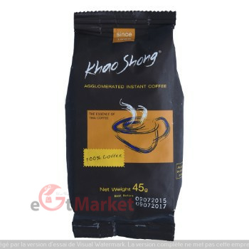 Khao Shong Agglomerated Instant Coffee Pouch 45g
