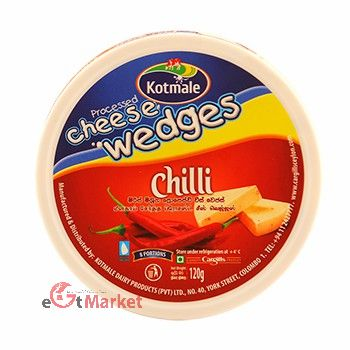 Kotmale Cheese Wedges Chillie 120g