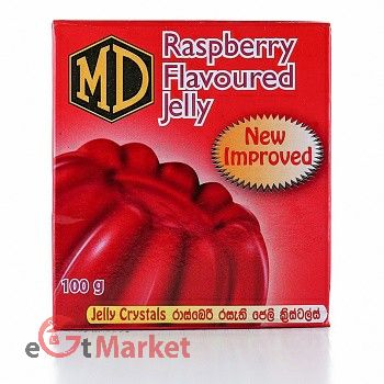 Md Jelly Crystals Raspberry 100g