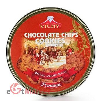 Vichy Chocolate And Chips Cookies Tin 400g